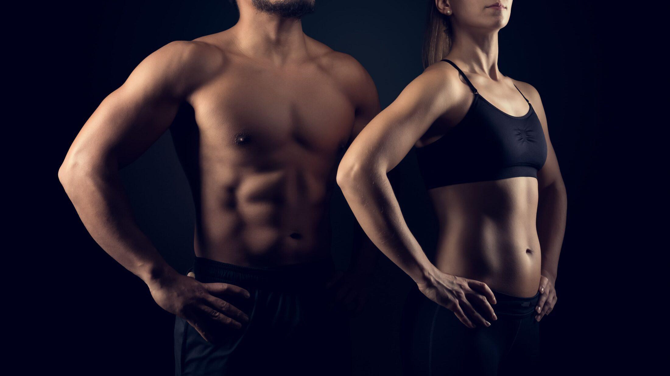 Muskulöser Mann und Frau in Sportkleidung | Dein Personal Trainer Berlin
