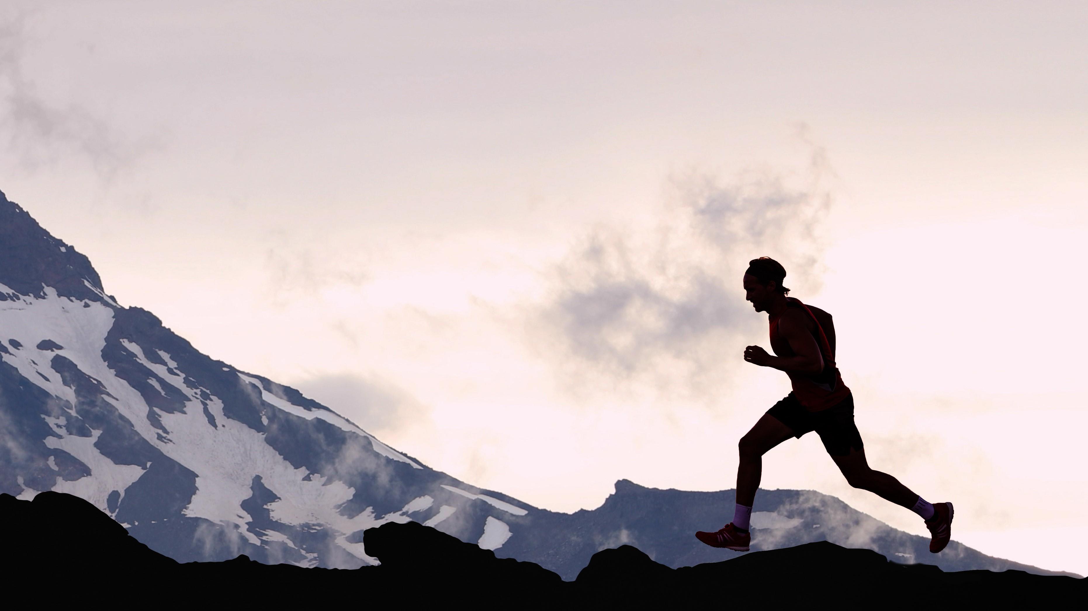 Läufer auf einem Berg | Dein Personal Trainer Berlin